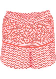 Пляжные шорты (омаровый/белый с узором) Bonprix