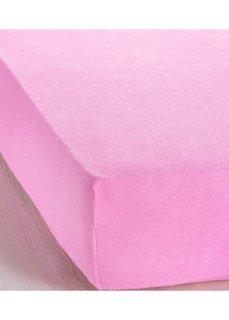 Эластичная простыня-чехол Махра (розовый) Bonprix