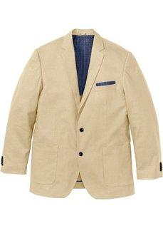 Пиджак Regular Fit в смеси льна и хлопка, cредний рост (N) (бежевый) Bonprix