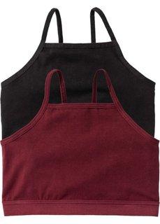 Бюстье (2 шт.) (черный/бордовый) Bonprix