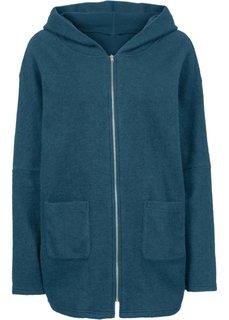Короткое пальто в стиле оверсайз (сине-зеленый) Bonprix