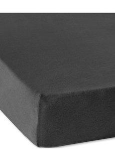 Эластичная простыня-чехол Джерси 40 см (черный) Bonprix