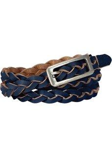 Кожаный ремень Пастель (темно-синий) Bonprix