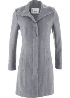 Короткое пальто на пуговицах (серый меланж) Bonprix