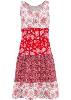 Трикотажное платье без рукавов (клубничный с узором) Bonprix