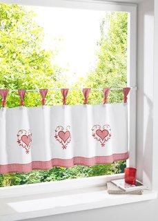 Кухонная штора Элина, петли (красный) Bonprix