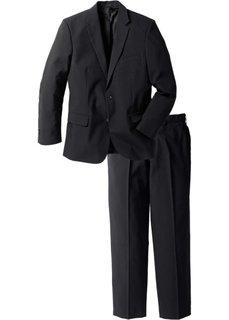Мужской костюм Regular Fit (2 изд.), cредний рост N (черный) Bonprix