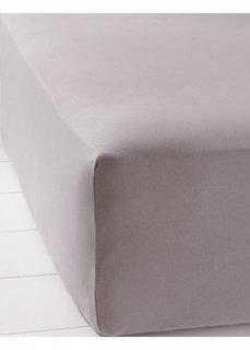 Простыня Эластичный джерси (серый) Bonprix