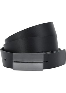 Кожаный ремень Андре (черный) Bonprix