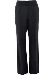 Льняные брюки (черный) Bonprix