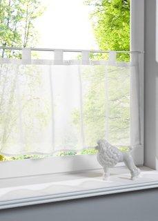 Кухонная штора Уни, петли (белый) Bonprix