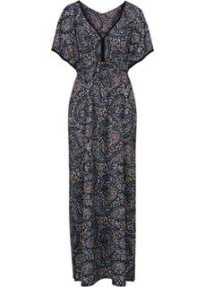Макси-платье (черный в цветочек) Bonprix