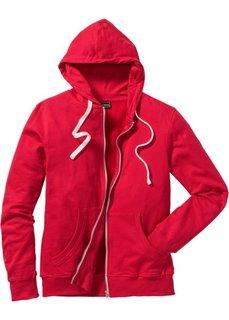 Трикотажная куртка традиционного прямого покроя (красный) Bonprix