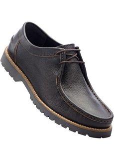 Кожаные туфли (темно-коричневый) Bonprix