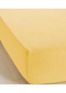 Эластичная простыня-чехол Махра (желтый) Bonprix