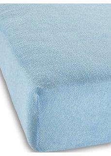 Махровая простыня-чехол для детской кровати (нежно-голубой) Bonprix