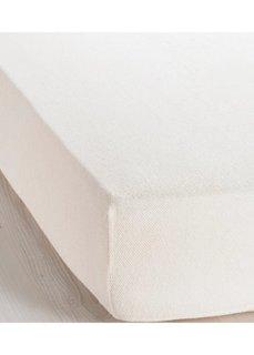 Эластичная простыня-чехол Махра (кремовый) Bonprix