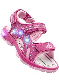 Сандалии с мигалками (ярко-розовый/розовый) Bonprix