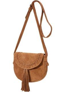 Замшевая сумка с кисточками (светло-коричневый) Bonprix