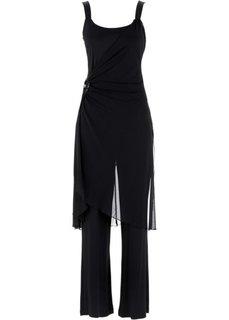 Вечерний костюм: топ + брюки (2 изд.) (черный) Bonprix