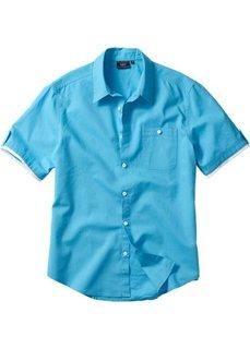 Рубашка Regular Fit (бирюзовый) Bonprix