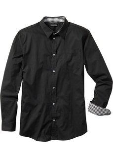 Мужская рубашка Regular Fit (черный) Bonprix