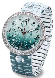 Часы с принтом (синий с капельками) Bonprix