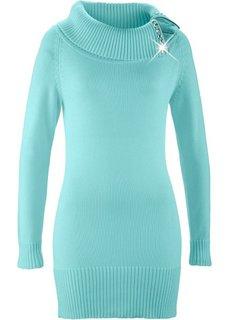 Длинный пуловер (пастельная аква) Bonprix