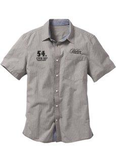 Рубашка Regular Fit с короткими рукавами (темно-оливковый в клетку) Bonprix