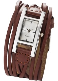 Женские наручные часы Эстель (коричневый) Bonprix