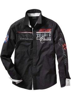 Рубашка с длинными рукавами (черный) Bonprix