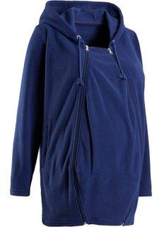 Флисовая куртка для беременных, со вставкой для малыша (ночная синь) Bonprix