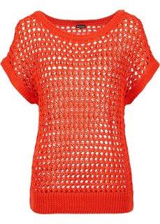 Пуловер (кроваво-оранжевый) Bonprix