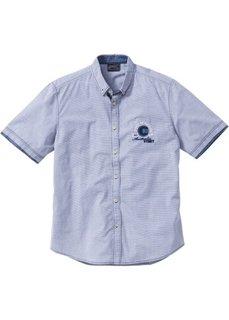 Рубашка Regular Fit с коротким рукавом (светло-серый в полоску) Bonprix
