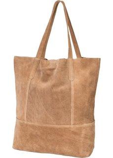 Кожаная сумка-шопер (светло-коричневый) Bonprix