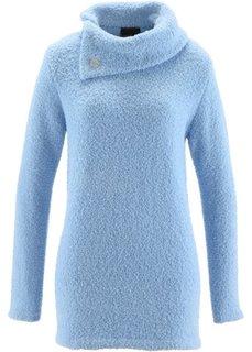 Пушистый пуловер (синий лед) Bonprix