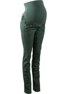 Для будущих мам: стройнящие брюки с прямыми брючинами (зеленый) Bonprix