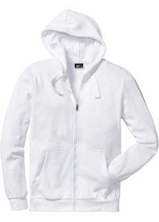 Трикотажная куртка стандартного покроя с капюшоном (белый) Bonprix