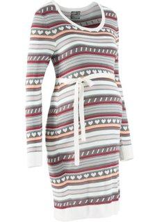 Для будущих мам: вязаное платье с норвежским узором (дымчато-серый с узором) Bonprix