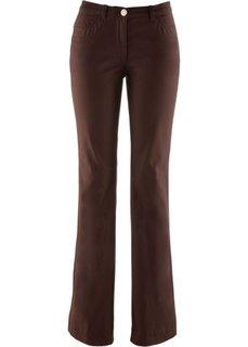 Стрейтчевые брюки-клеш (темно-коричневый) Bonprix