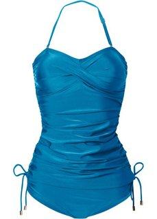 Купальный костюм-танкини (2 изделия) (сине-зеленый) Bonprix