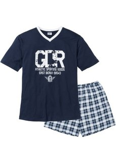 Пижама с  шортами (темно-синий/белый) Bonprix