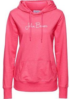 Свитшот с принтом и длинным рукавом (ярко-розовый) Bonprix