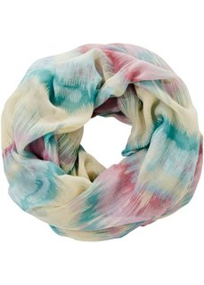 Разноцветный шарф снуд (нежно-голубой/розовый/цвет белой шерсти) Bonprix