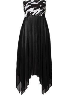 Пляжное платье 2 в 1 (черный/белый) Bonprix