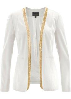 Пиджак с пайетками (цвет белой шерсти/золотистый) Bonprix