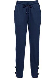 Трикотажные брюки с деталями в байкерском стиле (темно-синий) Bonprix