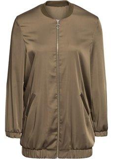 Удлиненная блузка (зеленый хаки) Bonprix