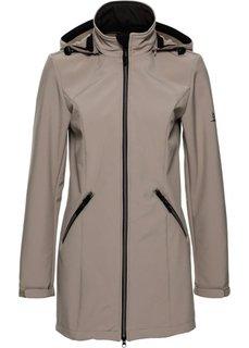 Куртка-стретч софтшелл (серо-коричневый) Bonprix