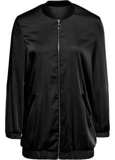Удлиненная блузка (черный) Bonprix